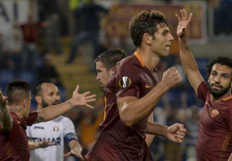 Fazio se anotó en la goleada de Roma