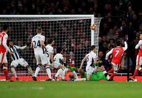 Arsenal pudo con el muro del WBA