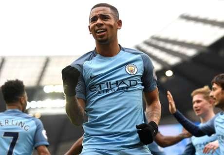 Gabriel Jesus salvó a Manchester City