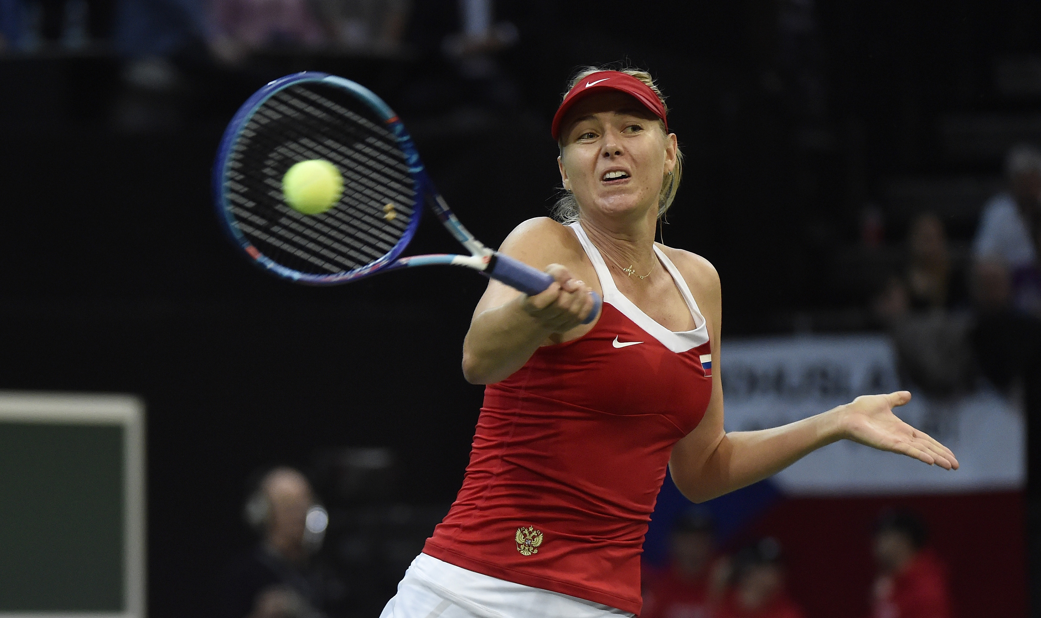 Maria Sharapova was in fine form against Karolina Pliskova