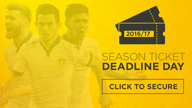 SEASON TICKETS: DEADLINE DAY!