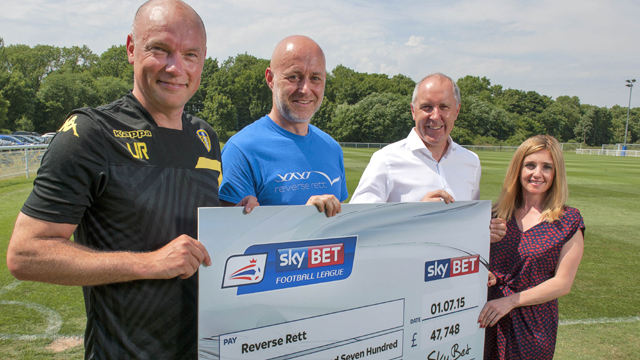 FOOTBALL FANS RAISE VITAL FUNDS