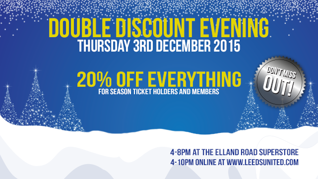 DOUBLE DISCOUNT EVENING THIS THURSDAY!