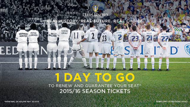 SEASON TICKET RENEWAL DEADLINE SATURDAY