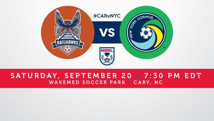Match Preview: The Carolina RailHawks Host The New York Cosmos