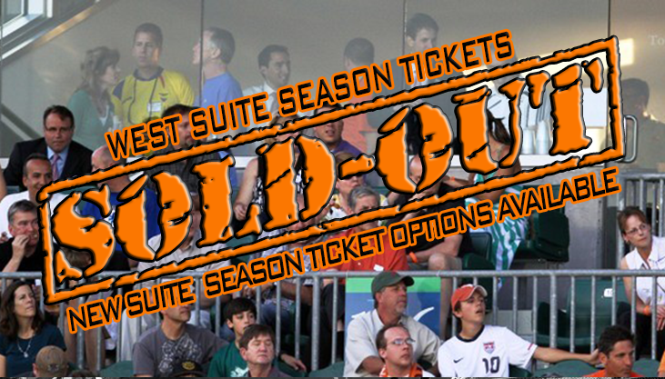 West Suite Season Tickets Sold Out, New Suite Season Ticket Option Available
