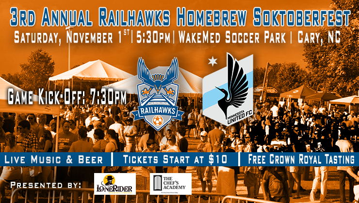 RailHawks to Host Third Annual Pre-Game Homebrew Soktoberfest