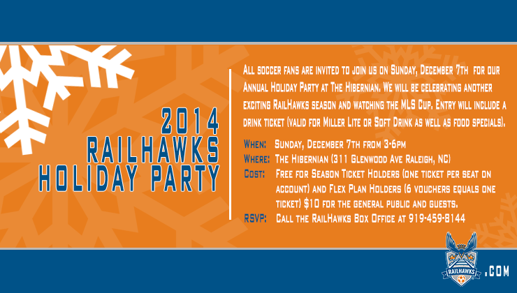 You are invited to the 2014 RailHawks Holiday Party!