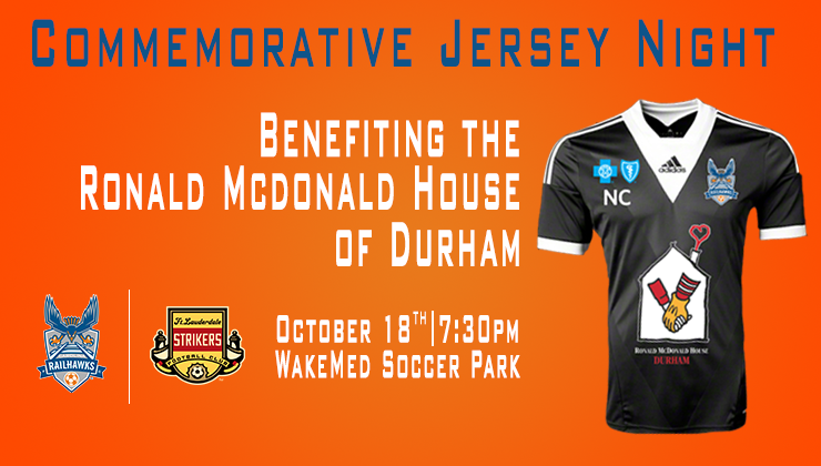 RailHawks to Wear Commemorative Jersey During Oct. 18 Match