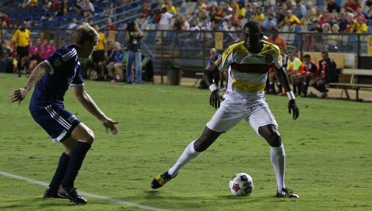 RailHawks Lose Narrowly in Fort Lauderdale