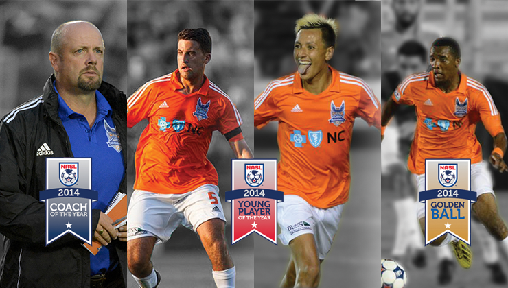 RailHawks Nominated for NASL Awards