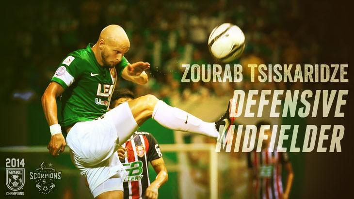 Scorpions Sign Defensive Midfielder Zourab Tsiskaridze