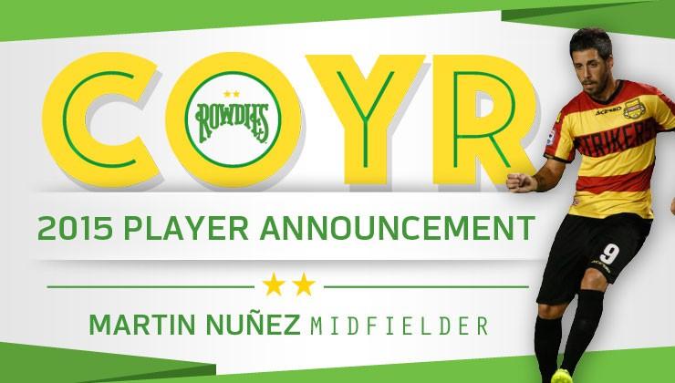 Rowdies Sign Uruguayan Midfielder Martin Nuñez