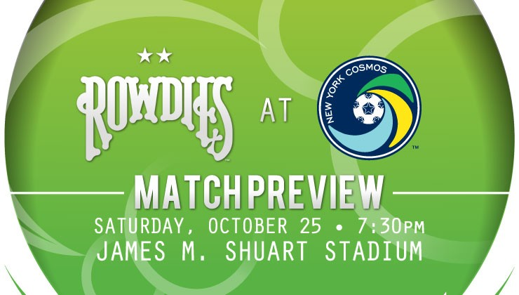 Match Preview: Rowdies Travel To Battle New York Cosmos