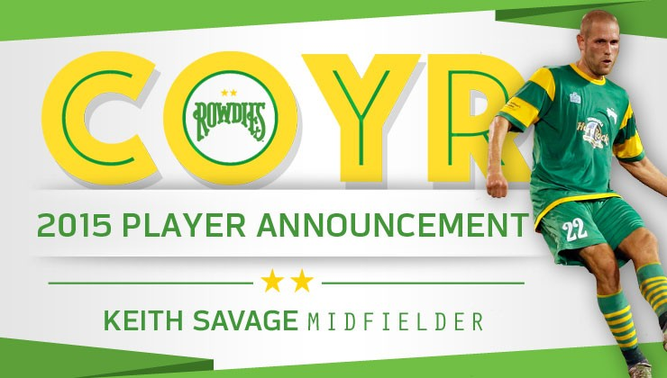 Rowdies Announce Return of Midfielder Keith Savage