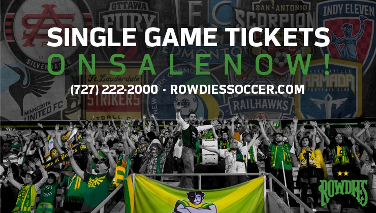 Rowdies Individual Game Tickets For 2015 Season on Sale Now
