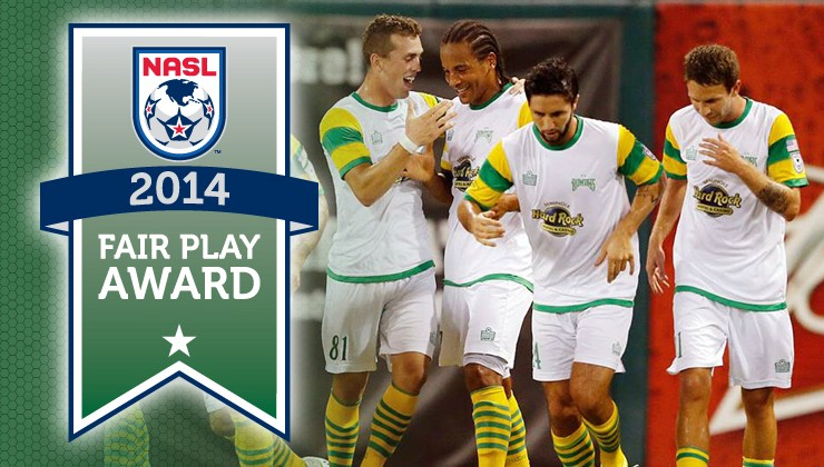 Tampa Bay Rowdies Win 2014 NASL Fair Play Award