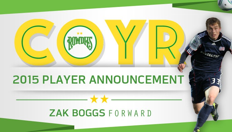 Veteran MLS Forward Zak Boggs Signs with Rowdies