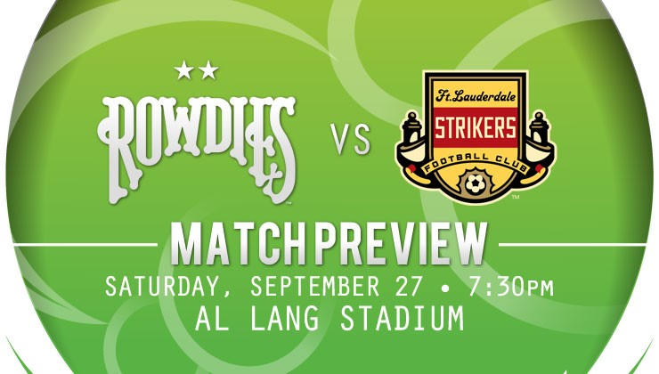 Match Preview: Rowdies Host Fort Lauderdale Strikers In Coastal Cup Finale