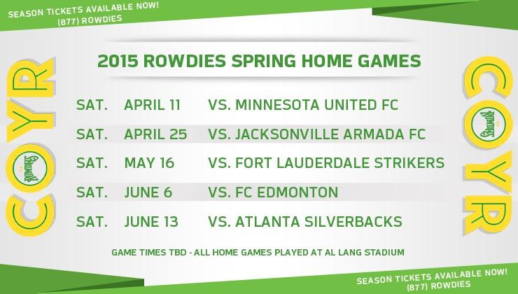 NASL Releases 2015 Spring Season Schedule