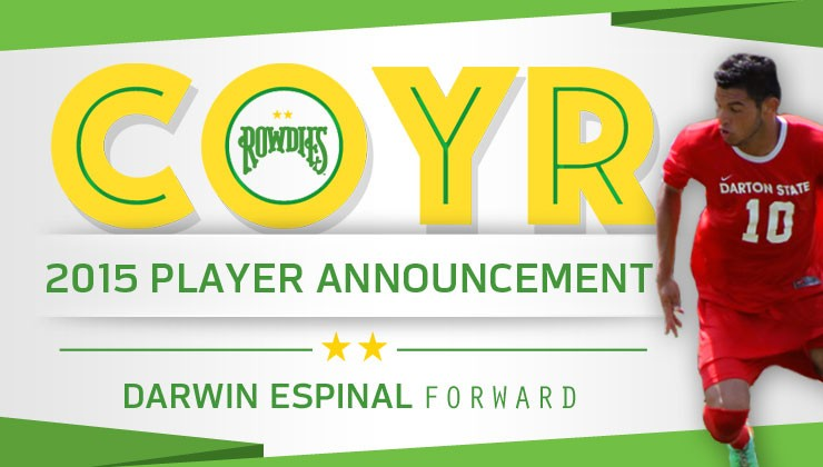 Attacking Prospect Darwin Espinal Signs with Rowdies