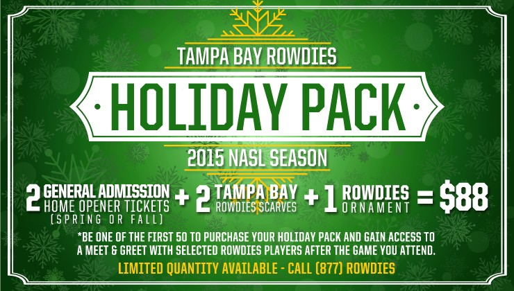 Complete Your Holiday Season with a 2014 Rowdies Holiday Pack