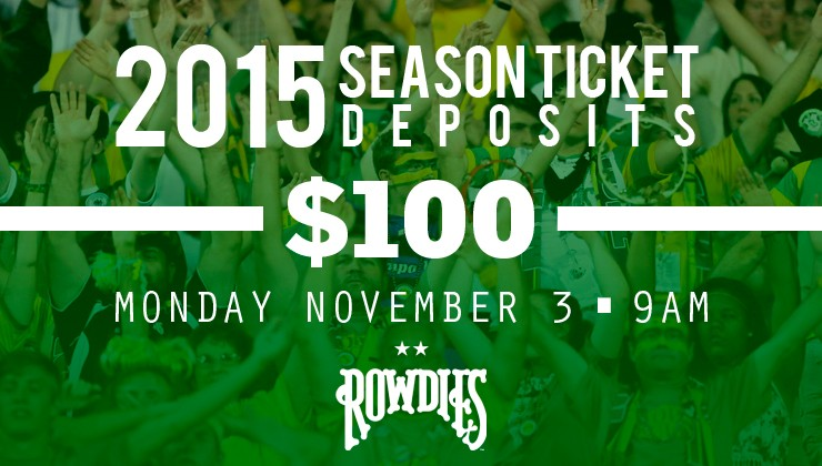 Join the Rowdies Tradition and Passion with 2015 Season Tickets