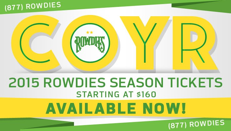 Rowdies Release 2015 Season Ticket Pricing