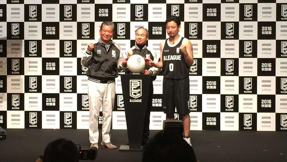 田臥勇太がBリーグとソフトバンクの会見に出席「世界に通じる日本のバスケットを作り上げていかないといけない」