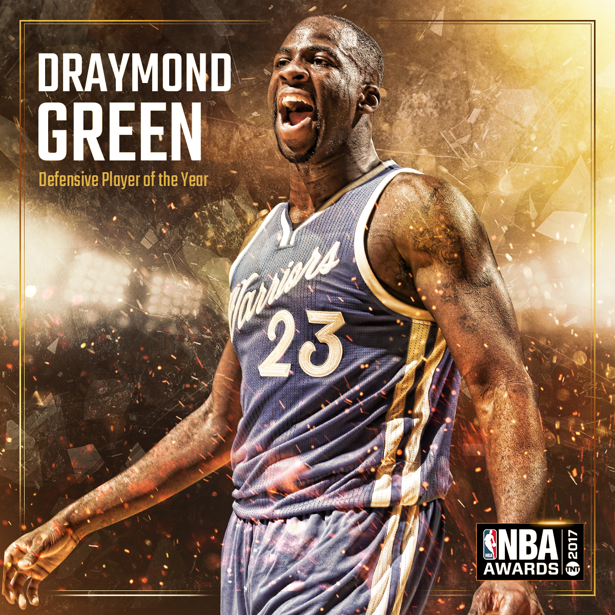 2017 NBA AWARDS - NBA Defensive Player of the Year Draymond Green