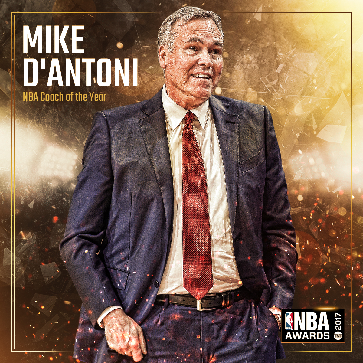 2017 NBA AWARDS - Coach of the year Mike D'Antoni