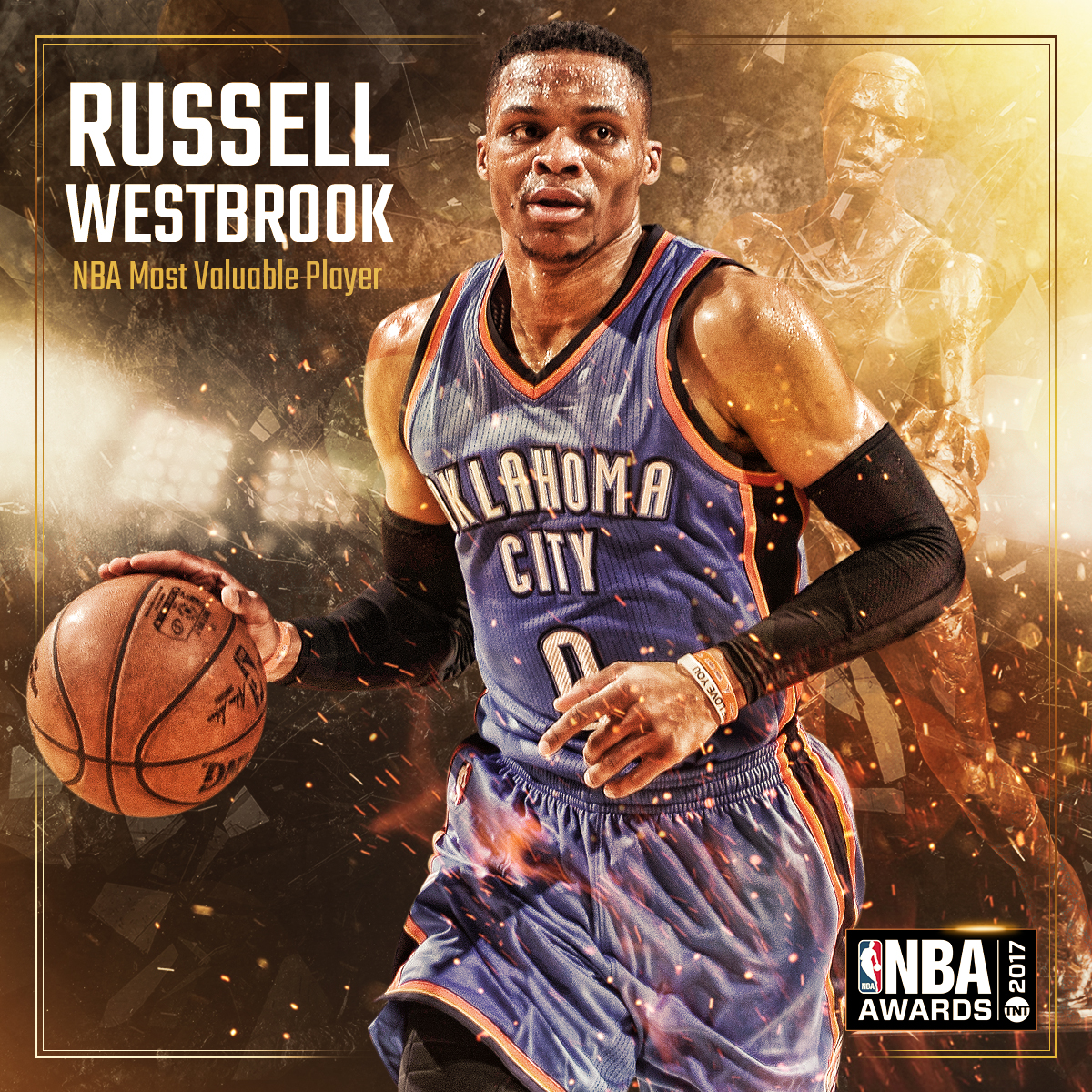 2017 NBA AWARDS - MVP Russell Westbrook
