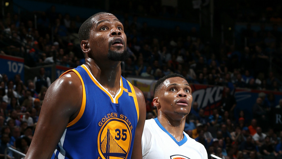 Russell Westbrook Oklahoma City Thunder Kevin Durant Golden State Warriors