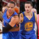 LeBron James Russell Westbrook Stephen Curry James Harden MVP candidates
