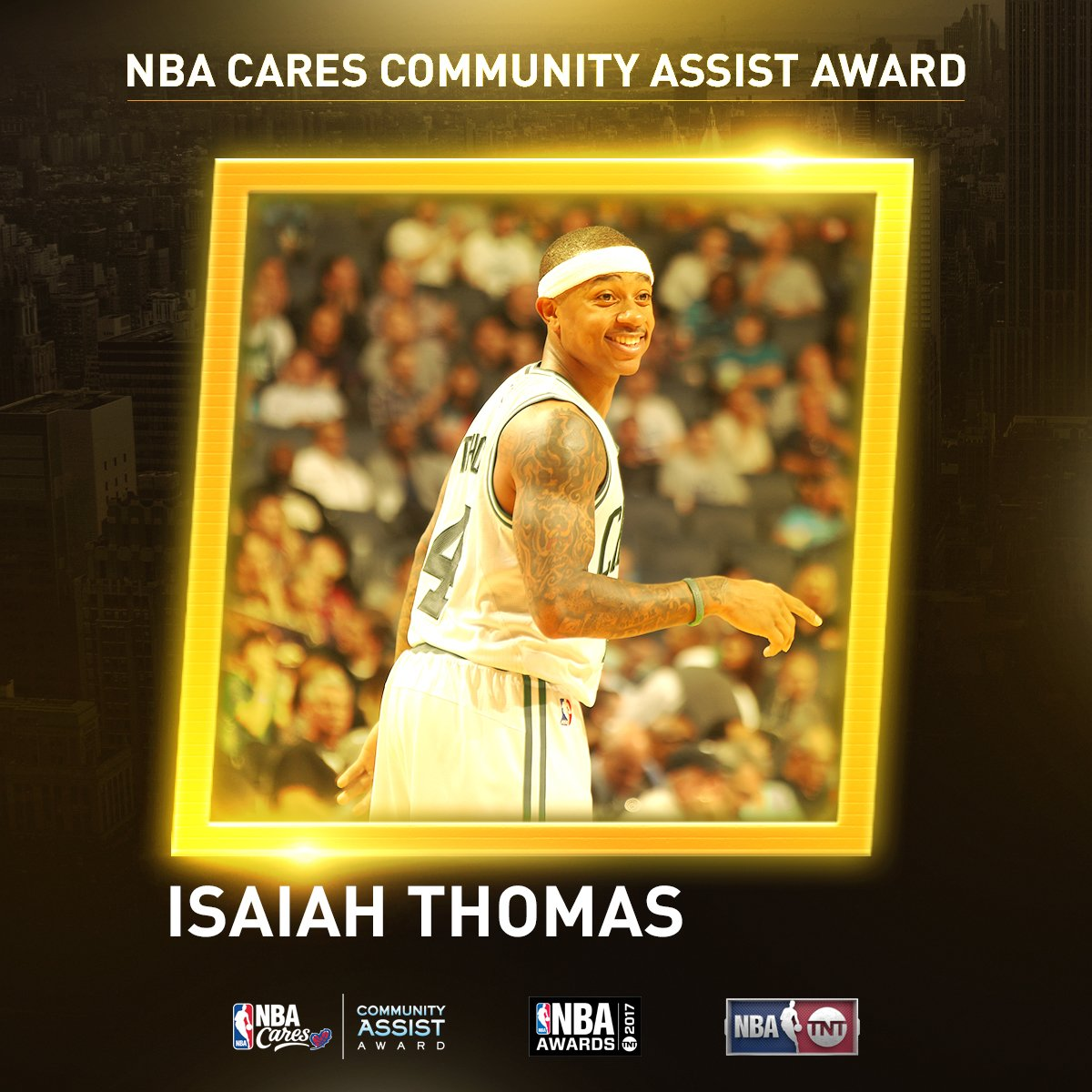 NBA Cares Community Assist Award Isaiah Thomas
