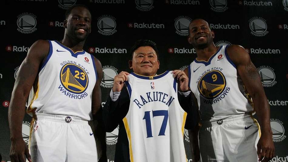 ウォリアーズとジャージーパートナーシップ締結の楽天・三木谷浩史会長「近い将来、NBAの試合を日本で」