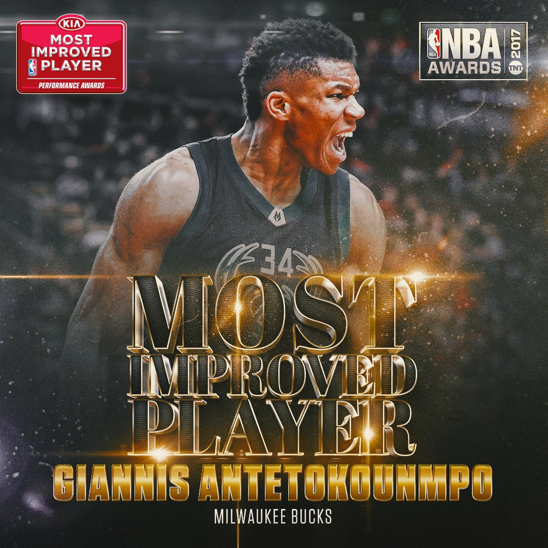 Most Improved Player MIP Giannis Antetokoumnpo