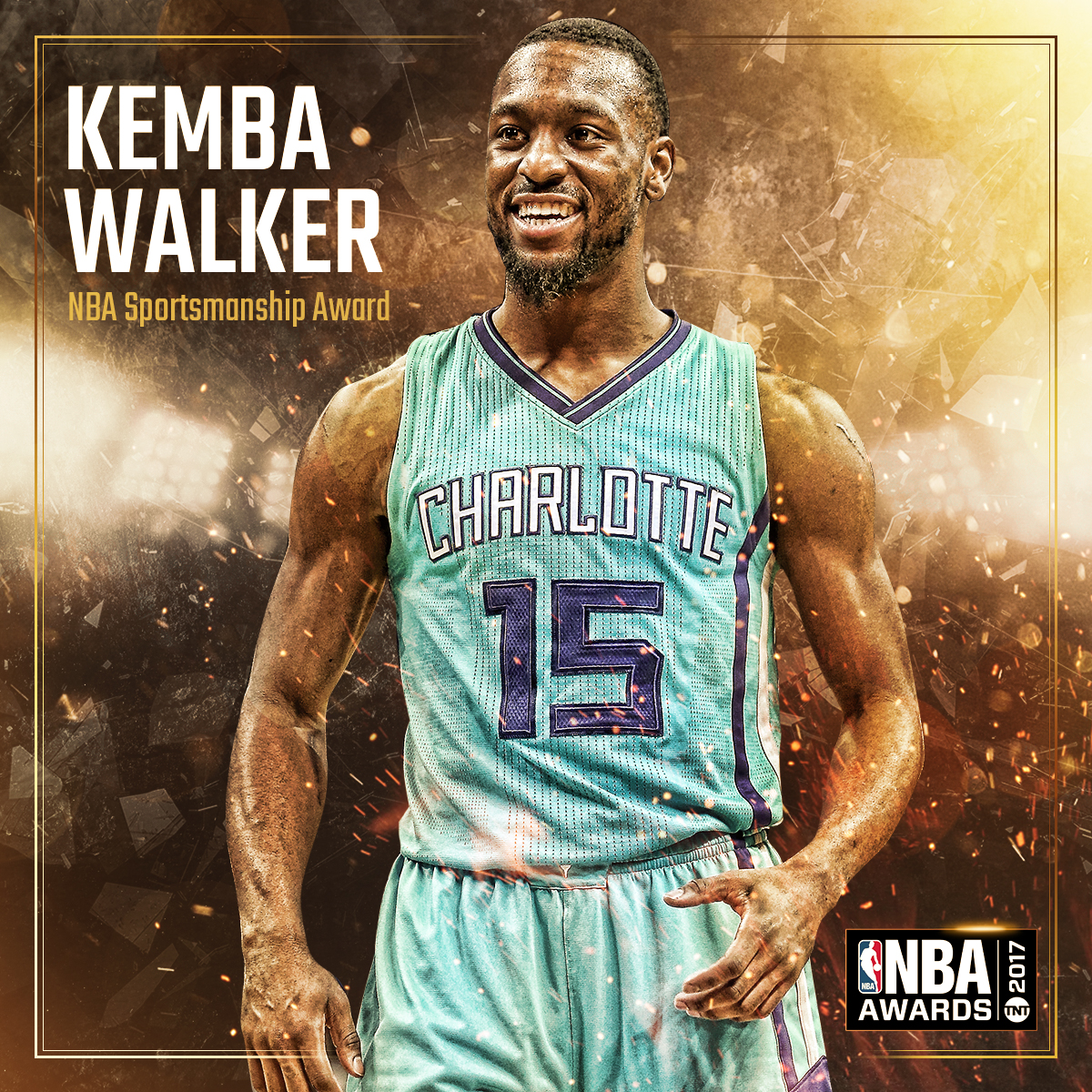 2017 NBA AWARDS - NBA SPORTSMANSHIP AWARD Kemba Walker