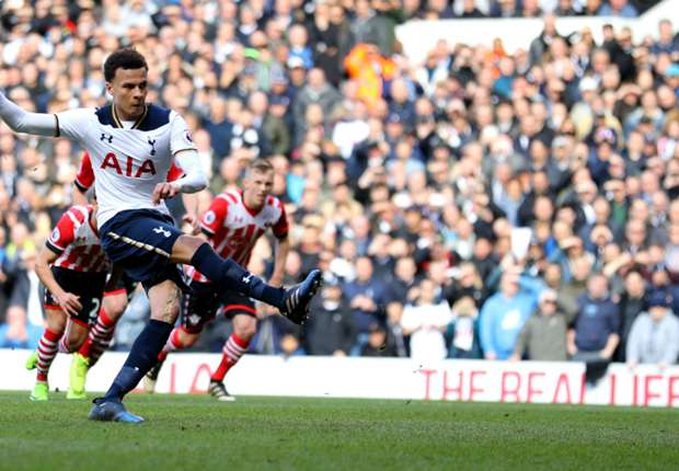 Dele Alli scores from the spot for Tottenham