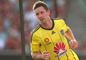 Wellington Phoenix star Blake Powell celebrates a goal