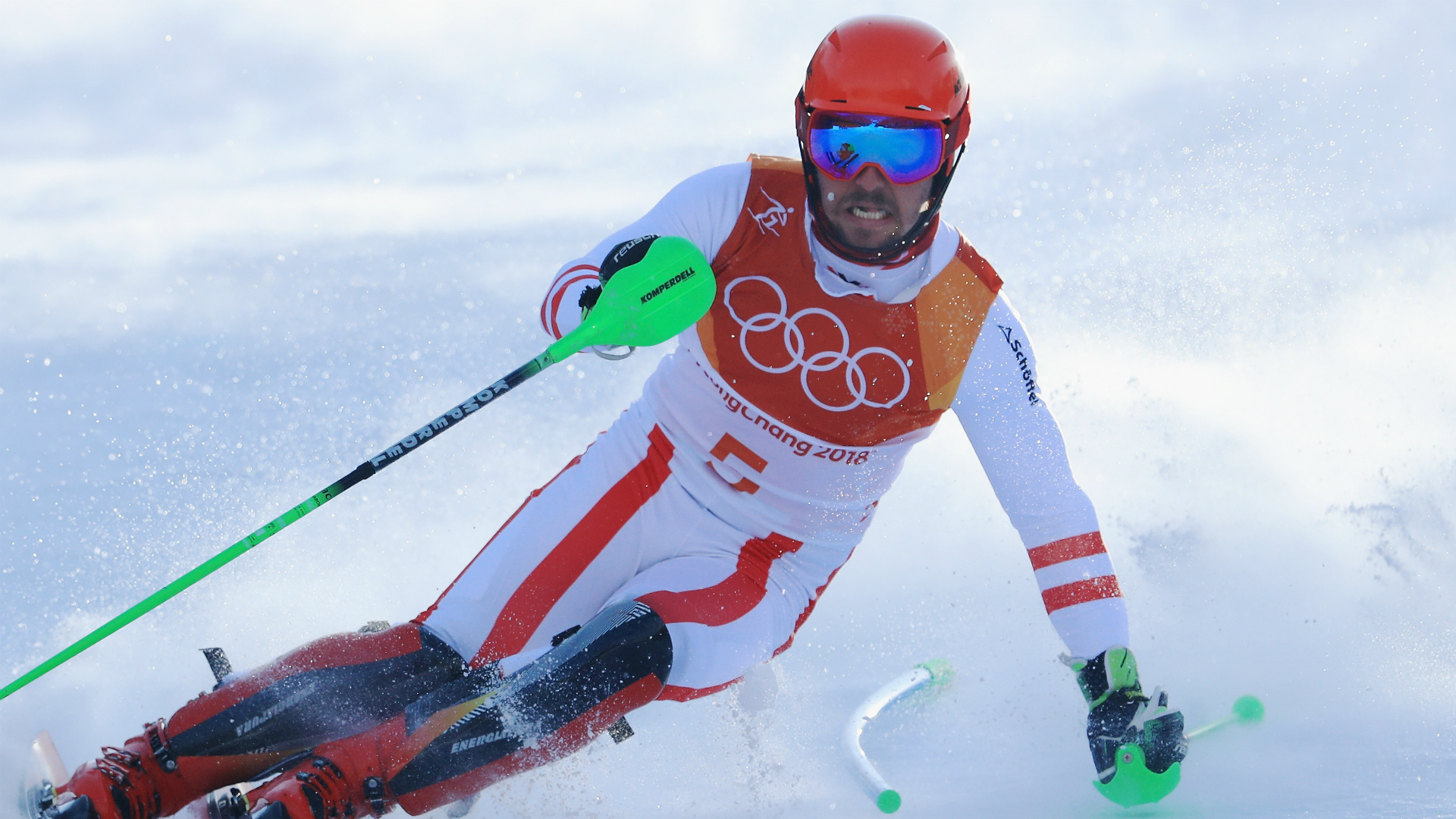 Andre Myhrer wins slalom gold, Marcel Hirscher loses control