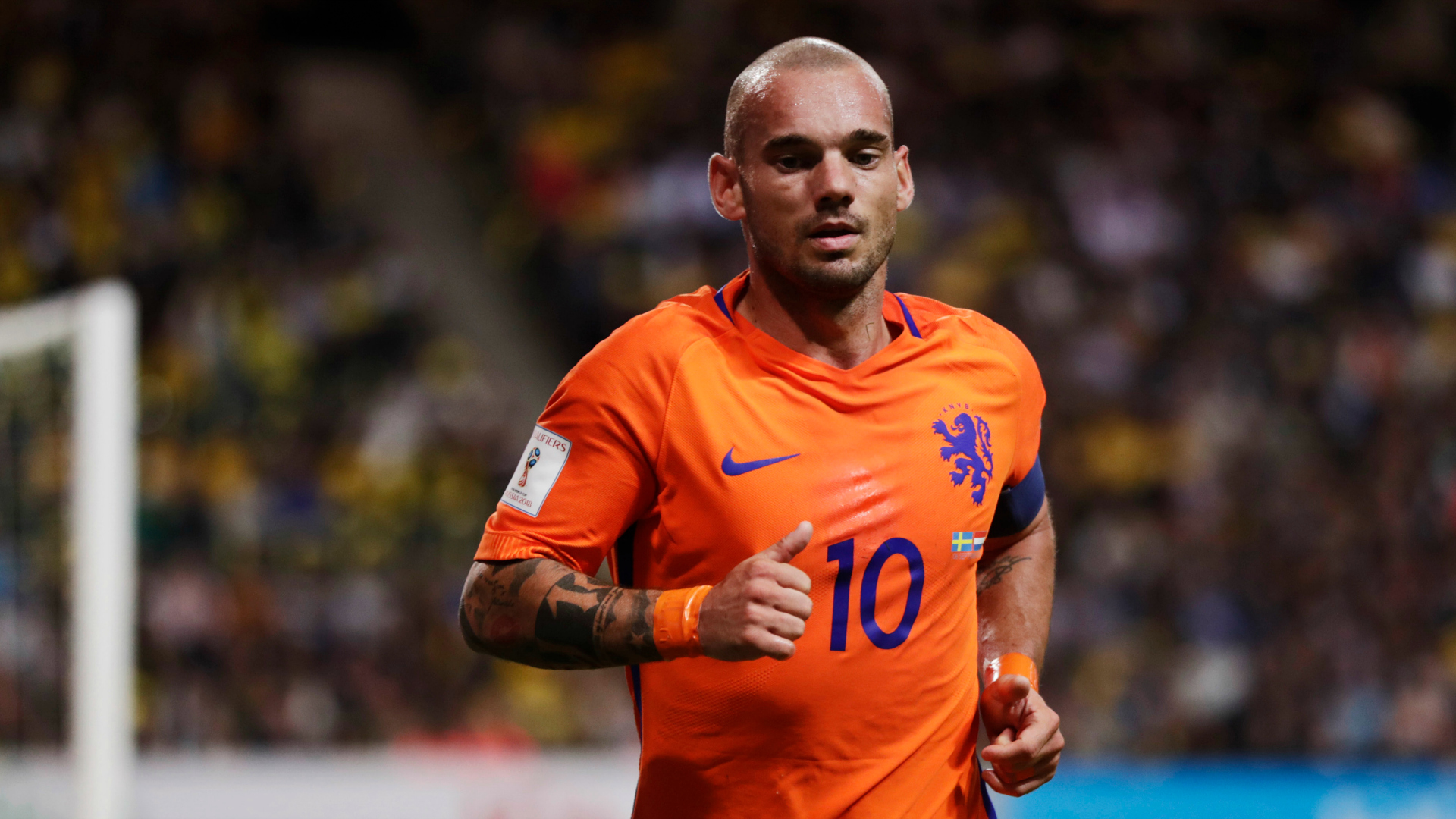 Sneijder becomes the Netherlands' most-capped international
