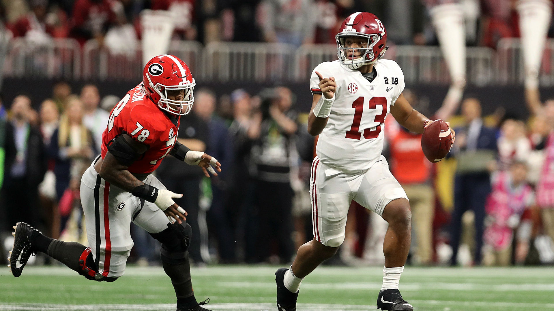 Mark Ingram on Alabama freshman quarterback Tua Tagovailoa: 'He's the man'