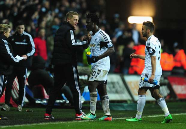 Swansea caretaker Monk hits back at Solskjaer