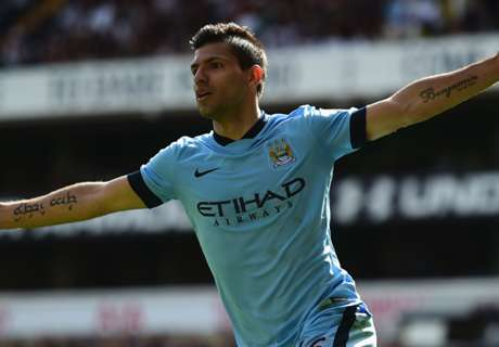Aguero steers City into second