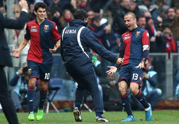 Luca Antonelli (r.) bejubelt seinen Siegtreffer gegen Milan