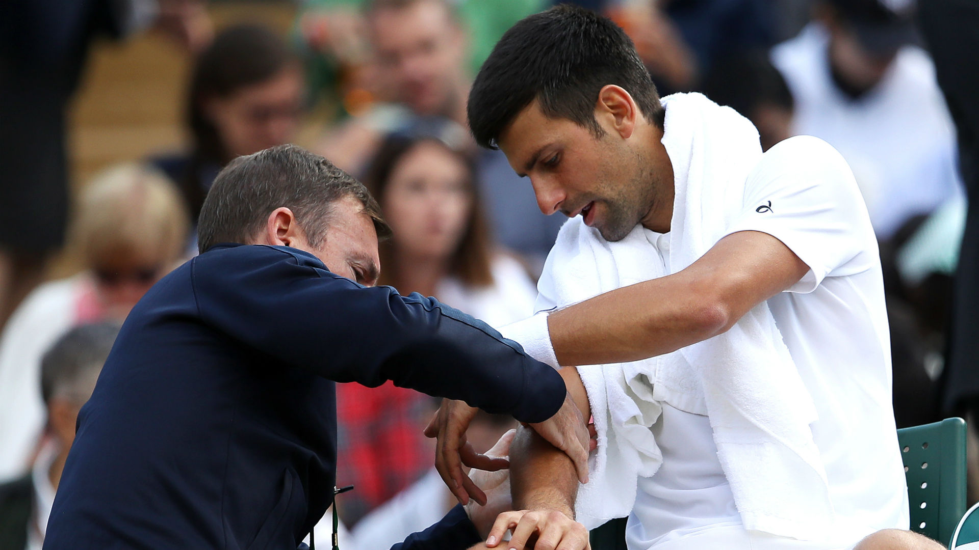 Wimbledon 2017 Novak Djokovic retires from Wimbledon quarterfinal