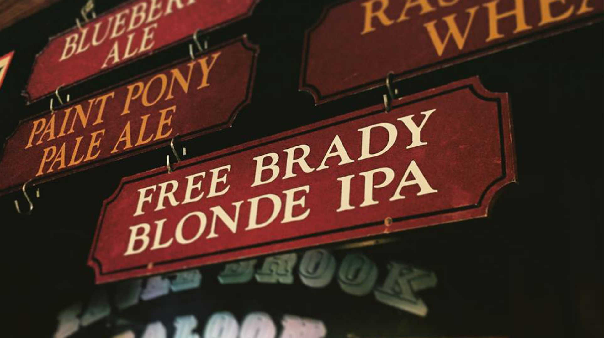 Patriots protesters' top draft pick? Free Brady Blonde IPA