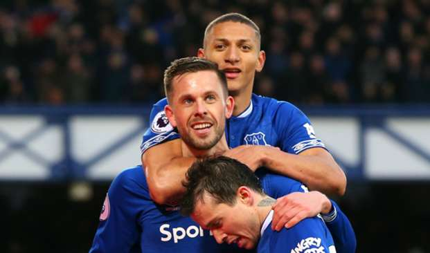 Gylfi Sigurdsson, Richarlison and Bernard - cropped