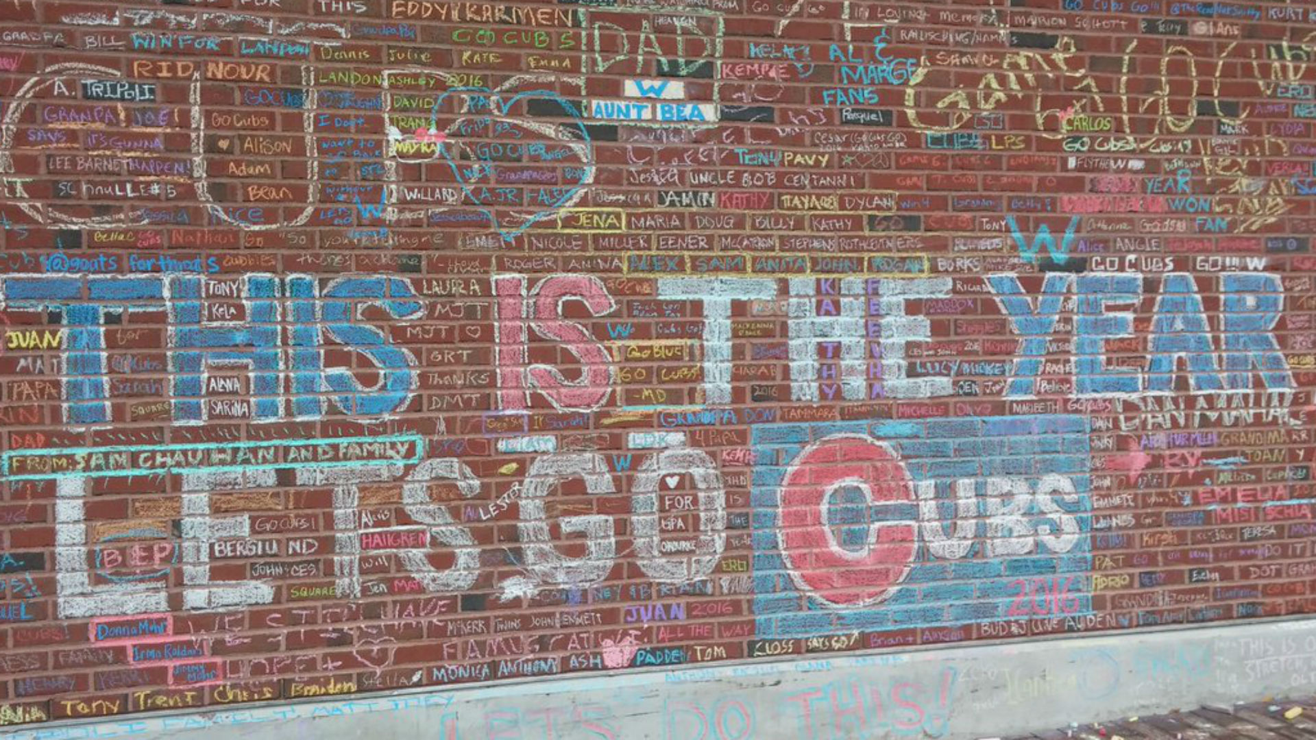 Cubs to remove messages from fans written on wrigley field wall cubs to remove messages from fans written on wrigley field wall mlb sporting news amipublicfo Gallery